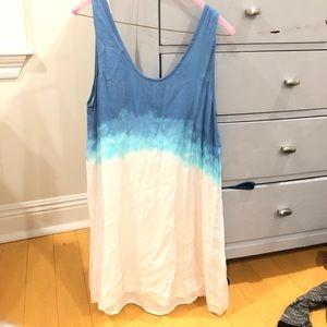 BB Dakota Blue and White Ombré Dress Size S